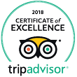 trip advisor certeficate of excellence 2017