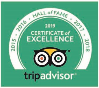 Certtificate of Excellence - Hall of fame